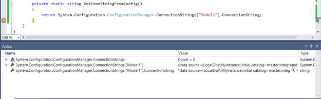 Visual Studio autos window