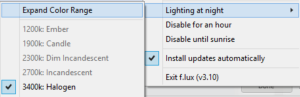 Flux Expanded Settings